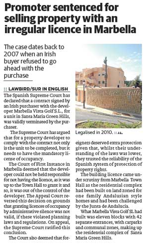 2013-03-28-Lawbird-Promoter-sentenced-for-selling-property-with-an-irregular-licence-in-Marbella